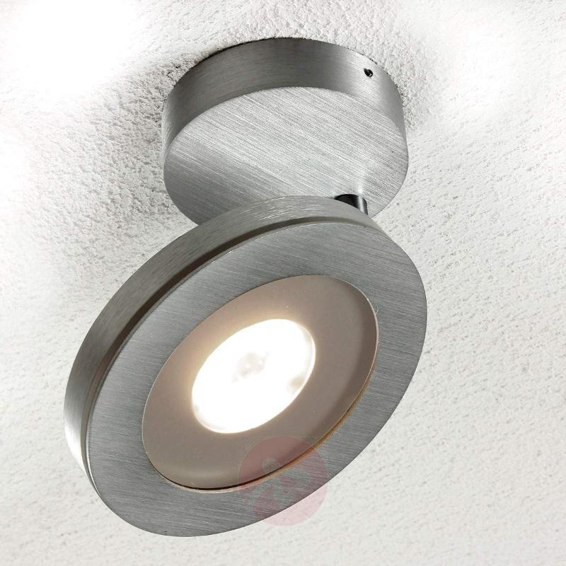 Adjustable 1-bulb LED ceiling lamp Vio, aluminium - Ceiling Lights