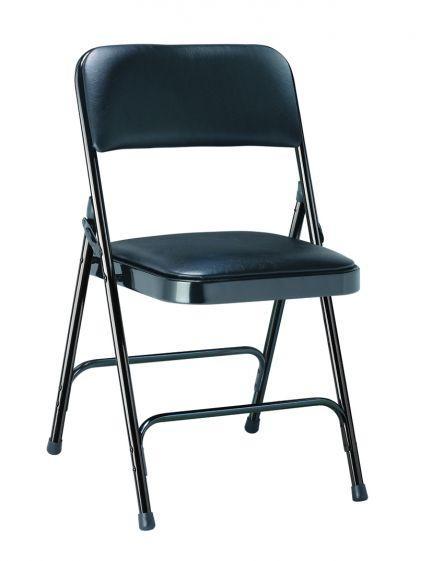 Chaise pliante métal et vinyle - Mobilier Intérieur