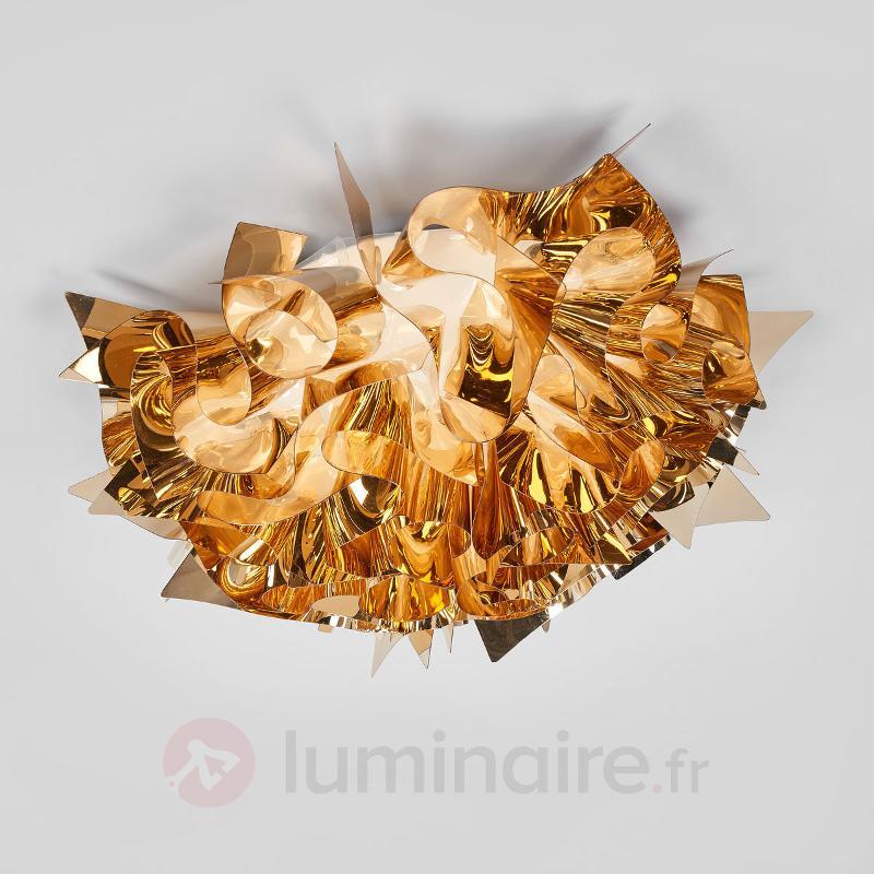 Plafonnier Veli doré, 53 cm - Plafonniers laiton/dorés