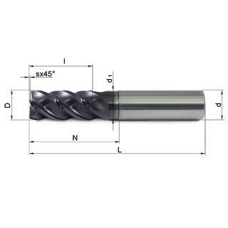 Vollhartmetallfräser VHM 476W-04 TS35 - null
