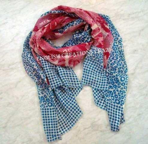 Silk wool print scarves  - Silk wool print scarves