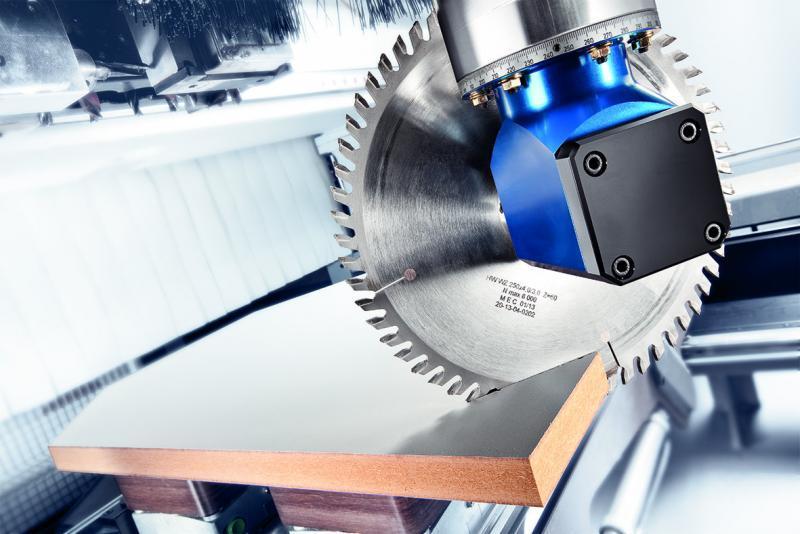Einfachwinkelkopf MONO R mit reduzierter Drehzahl - CNC Aggregat / Winkelkopf zur Bearbeitung von Holz und Verbundwerkstoffen