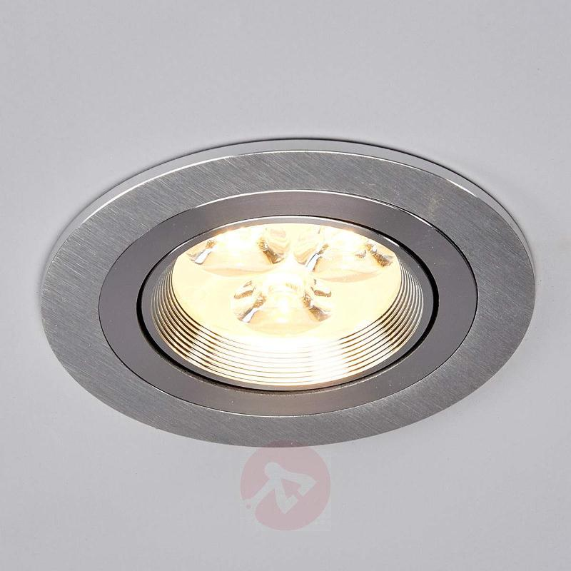 Round LED installed light Tjark made of aluminium - Recessed Spotlights