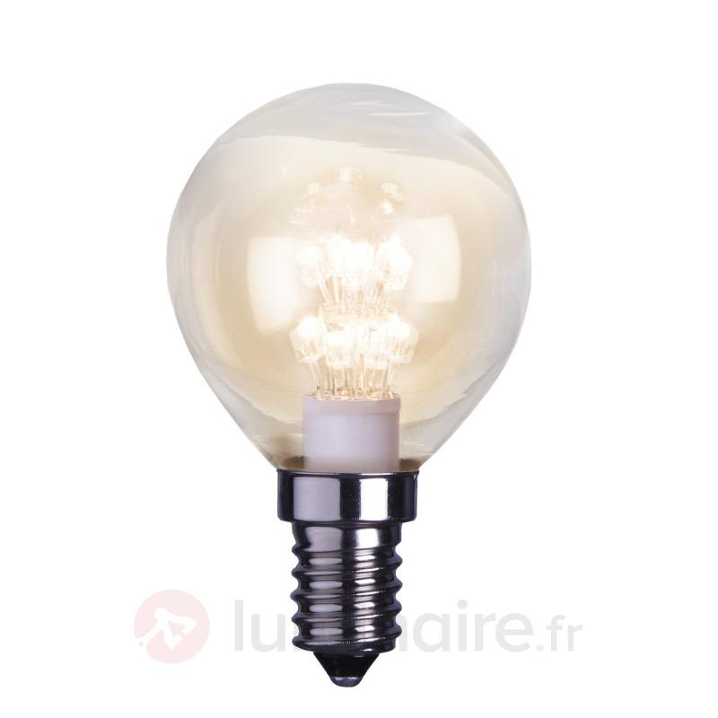 Lampe LED E14 0,9W transparente - Ampoules LED E14