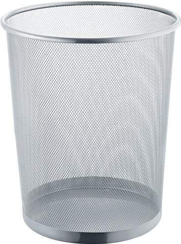 Mesh Papierkorb, silber, 15L - Z00331051