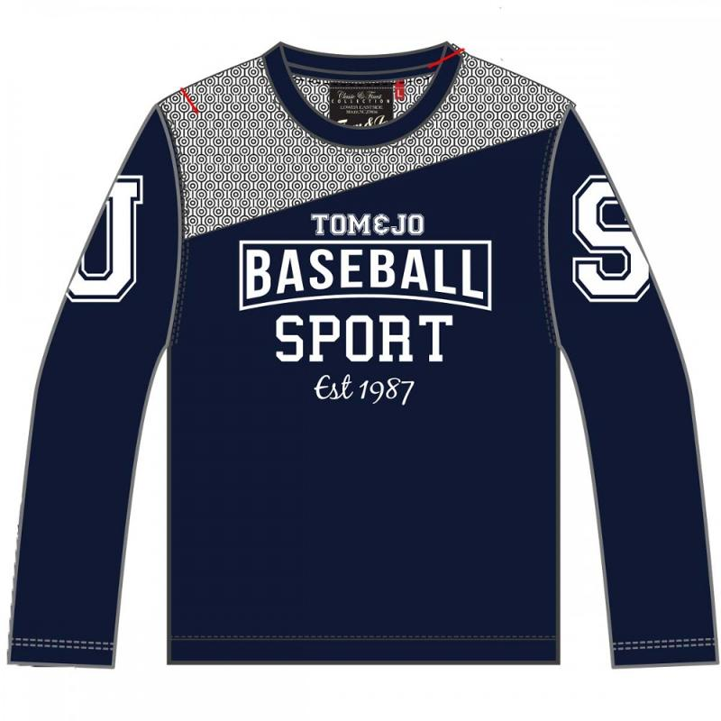 12x T-shirts manches longues Tom Jo du 2 au 12 ans - T-shirt et polo manches longues