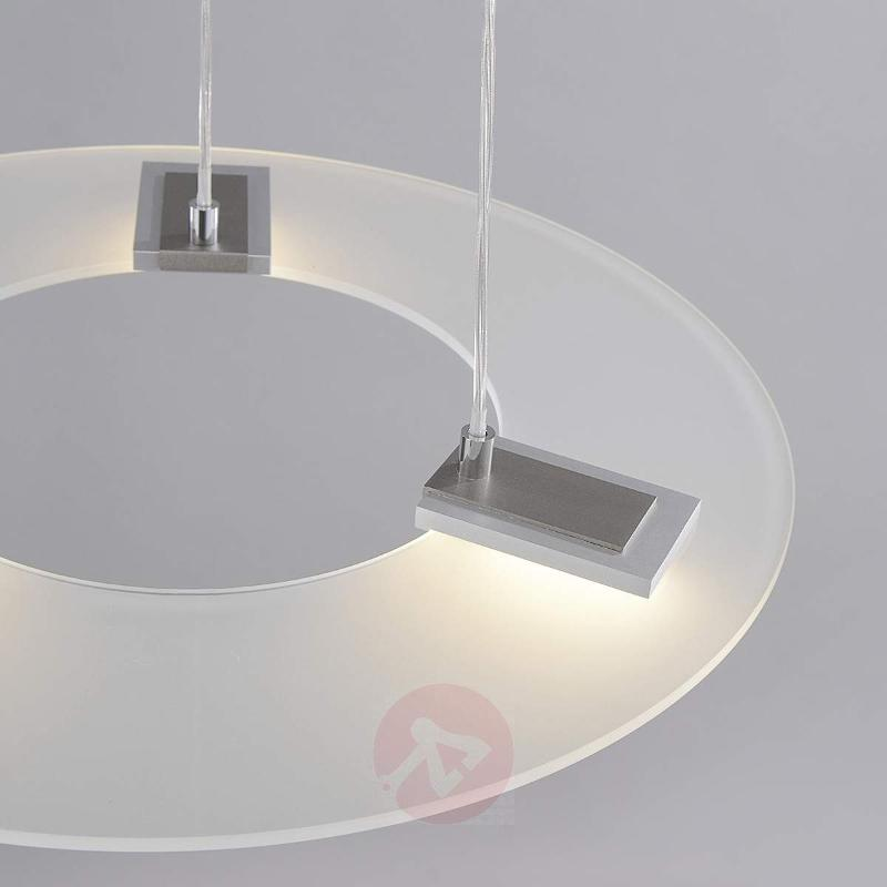 Dimmable Sara LED pendant light, glass shade - Pendant Lighting