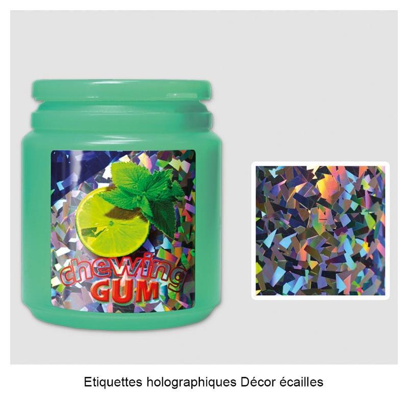 Étiquettes holographiques - Étiquettes métallisées