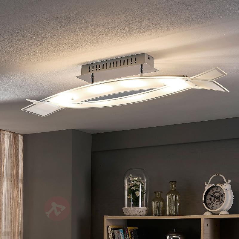 Plafonnier LED en verre Elina - Plafonniers LED