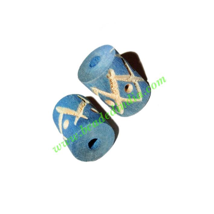 Wooden Carved Beads, size 10x15mm, weight approx 0.7 grams - Wooden Carved Beads, size 10x15mm, weight approx 0.7 grams