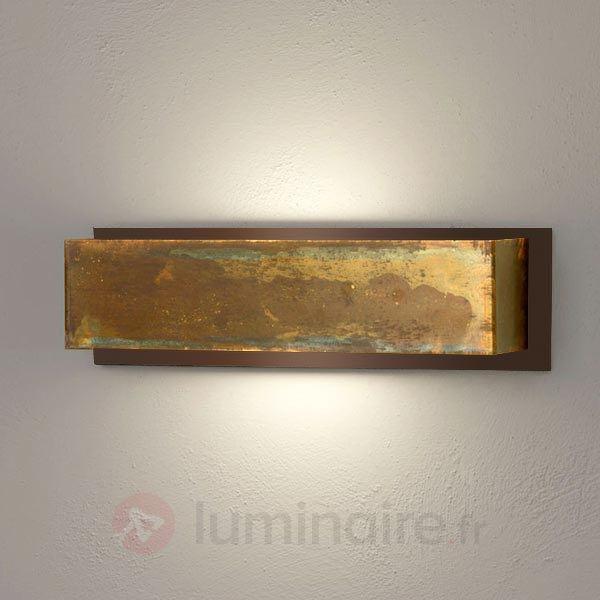 Applique Lola 35 cm laiton et brun - Appliques rustiques