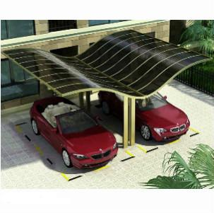 double carport in Italy - Top quality aluminum alloy framework Car park japanese carport in China