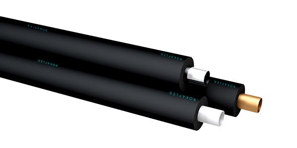 Roka Flex elastomeric rubber foam insulation tube - in. diam.: 6mm to 114mm // wall thck. : 6mm to 32mm