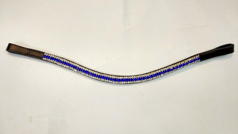 Blue crystal horse browband