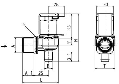 Servo-controlled solenoid valve NC, DN 10 - 01.010.115