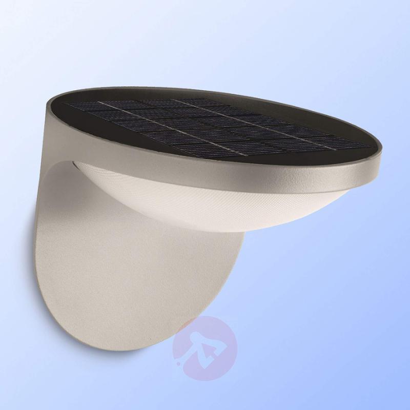 Dusk LED Solar Outside Wall Light Grey - outdoor-led-lights