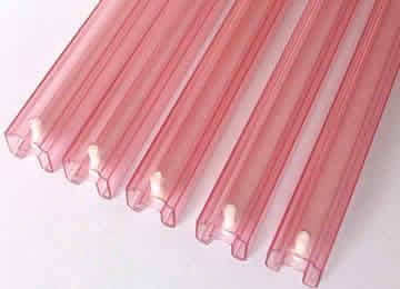 Extrusion transparent profile - Custom produce Plastic extrusion  transparent profiles