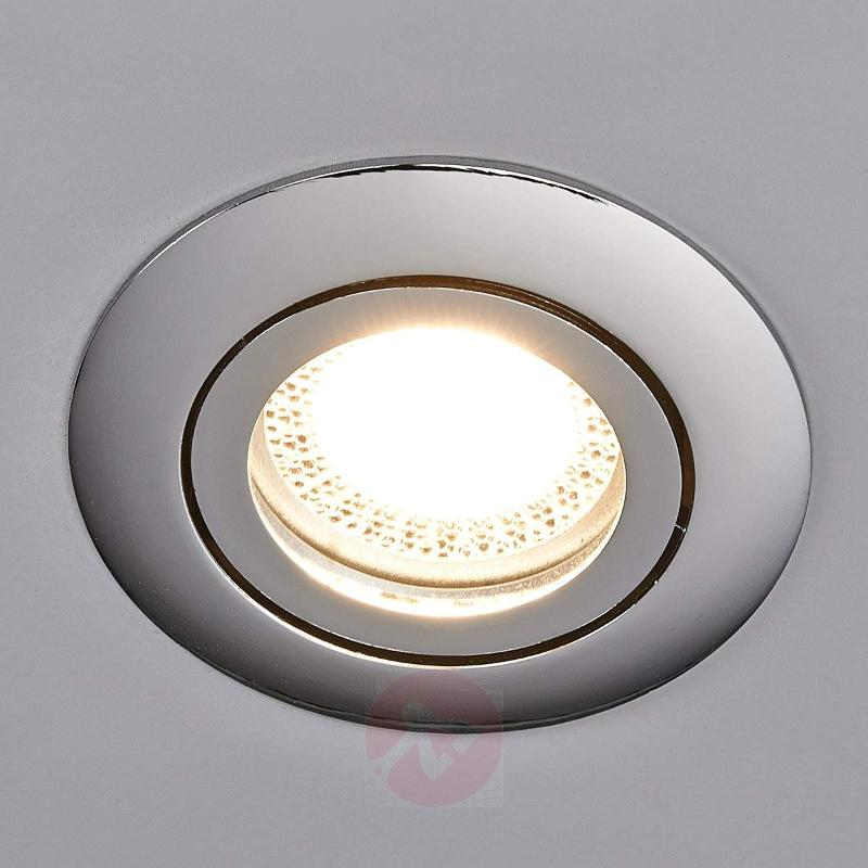 Lisara - LED installed light in chrome, round - Recessed Spotlights