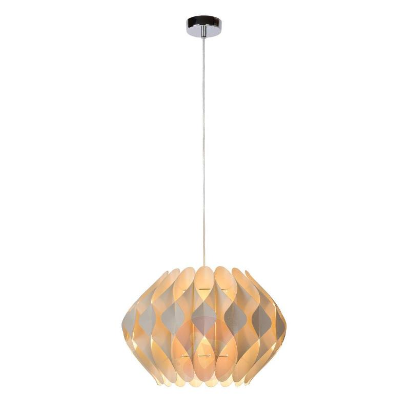 Fan-like Tanti hanging light in cream - Pendant Lighting