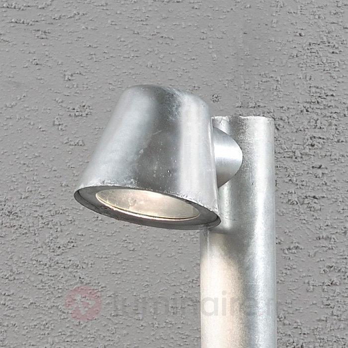 Borne lumineuse argentée Trieste en acier - Toutes les bornes lumineuses