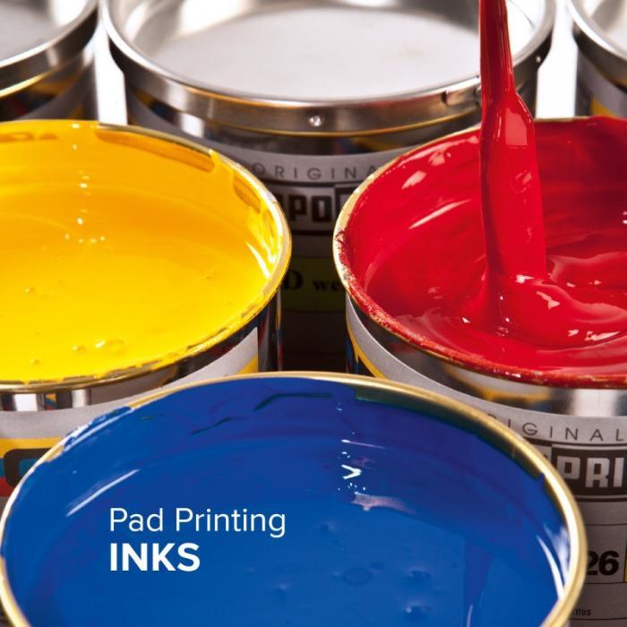 Tampondruckfarben - TAMPOPRINT Tampondruckfarben für alle Tampondrucksysteme.