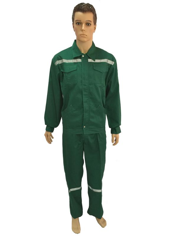 work suit with reflective tapes on shoulder and leg - WORK SUIT-001