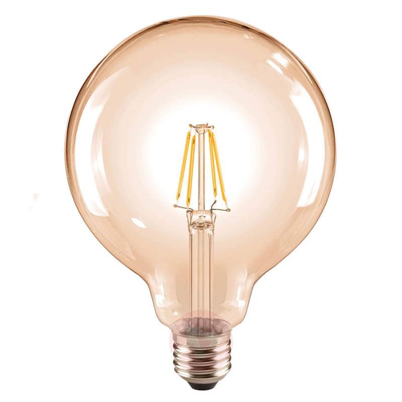 E27 6 W 824 LED globe lamp G125, gold - light-bulbs