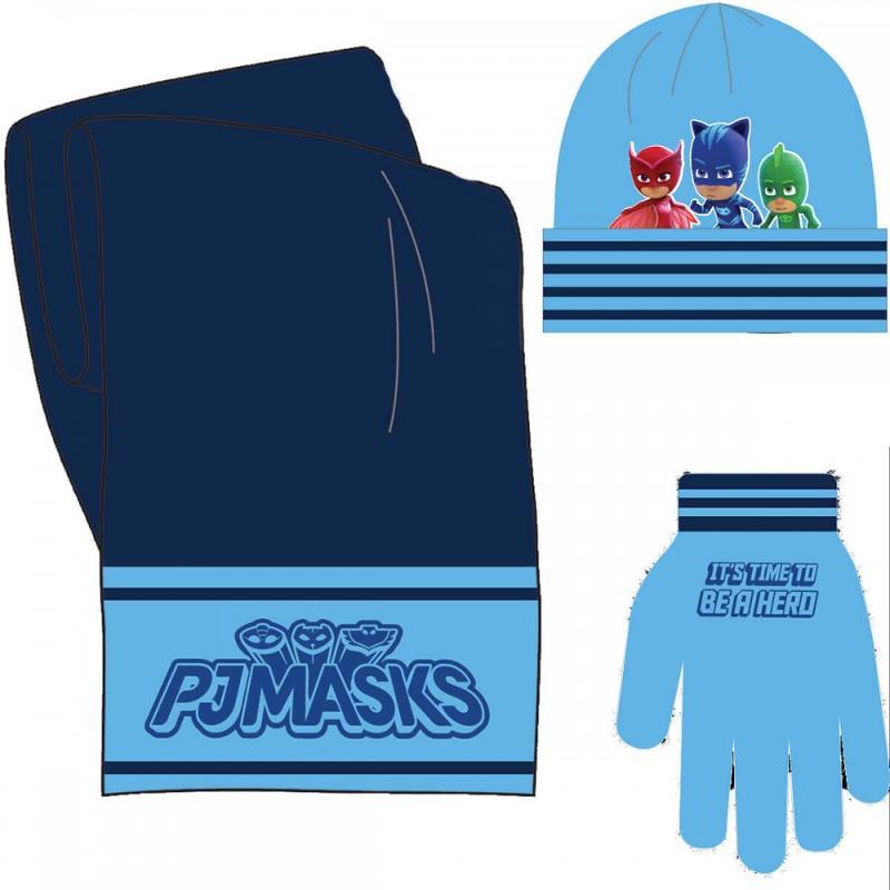 3x Echarpes et bonnets et gants PJ Masks - Bonnet Gant Echarpe