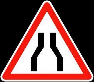 Panneau A3 Chaussée Rétrécie - Balisage De Chantier Et Panneaux Routiers