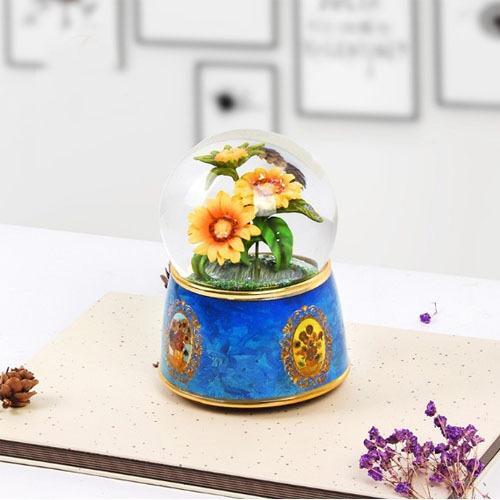 Handmade Custom Sunflower Snow Globe Item - Handmade Custom Sunflower Snow Globe Item