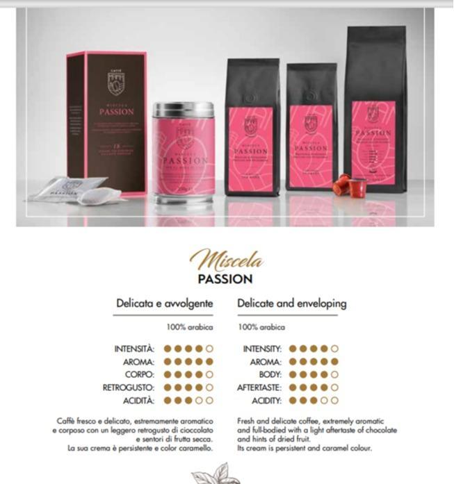 Miscela PASSION 100% Arabica - Caffè Italiano di alta quality, produzione artigianale