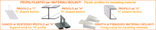 Profili plastici - per materioli isolanti