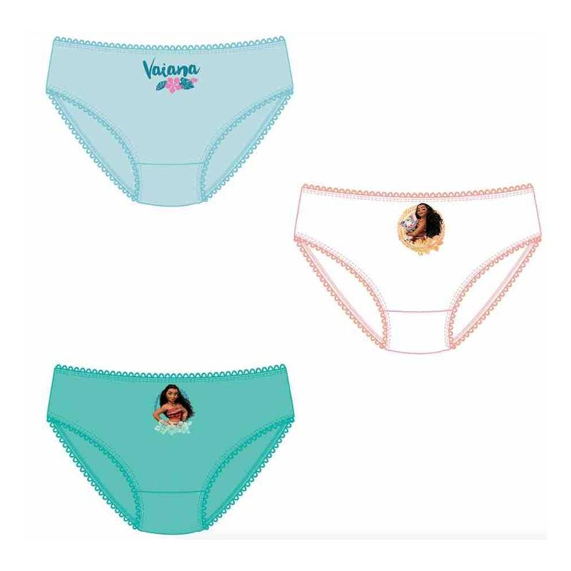 36x Lots de 3 culottes Vaiana du 2 au 8 ans - Sous-vêtement