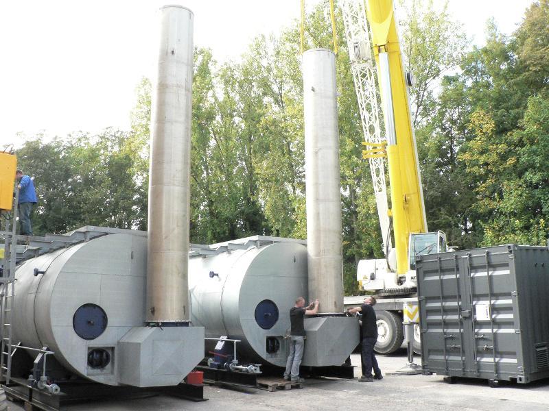 Chaudières mobile - Chaudière semi-contenairisée 7MW