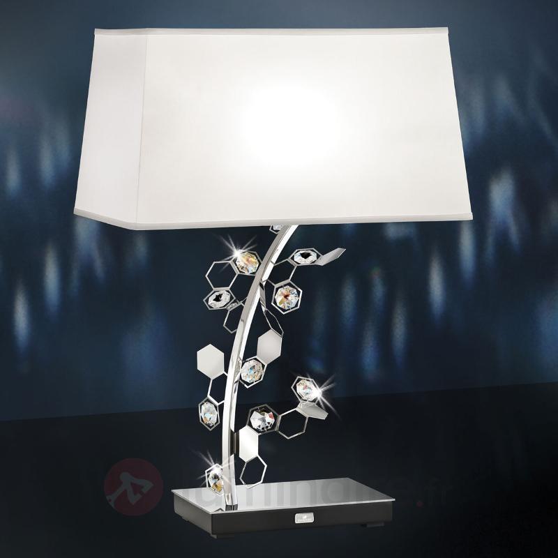 Lampe à poser Crystalon avec cristaux Swarovski - Lampes à poser en tissu