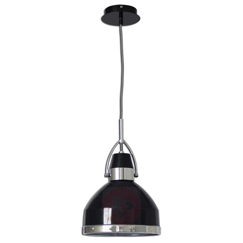 Industrial-looking Britta hanging lamp, black - indoor-lighting