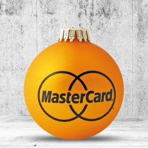 Christmas baubles with logo print - null