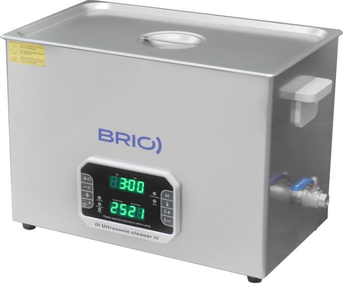 BR-30 LAB Plus - Máquina de limpieza por ultrasonidos manual de 30 L