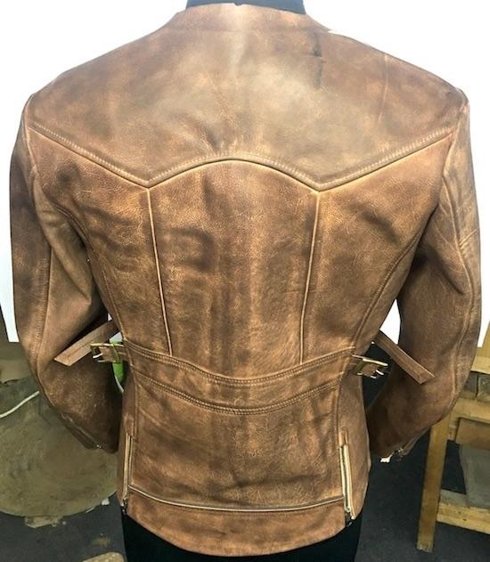 Hand Painted Leather Jacket - Men's Jacket
