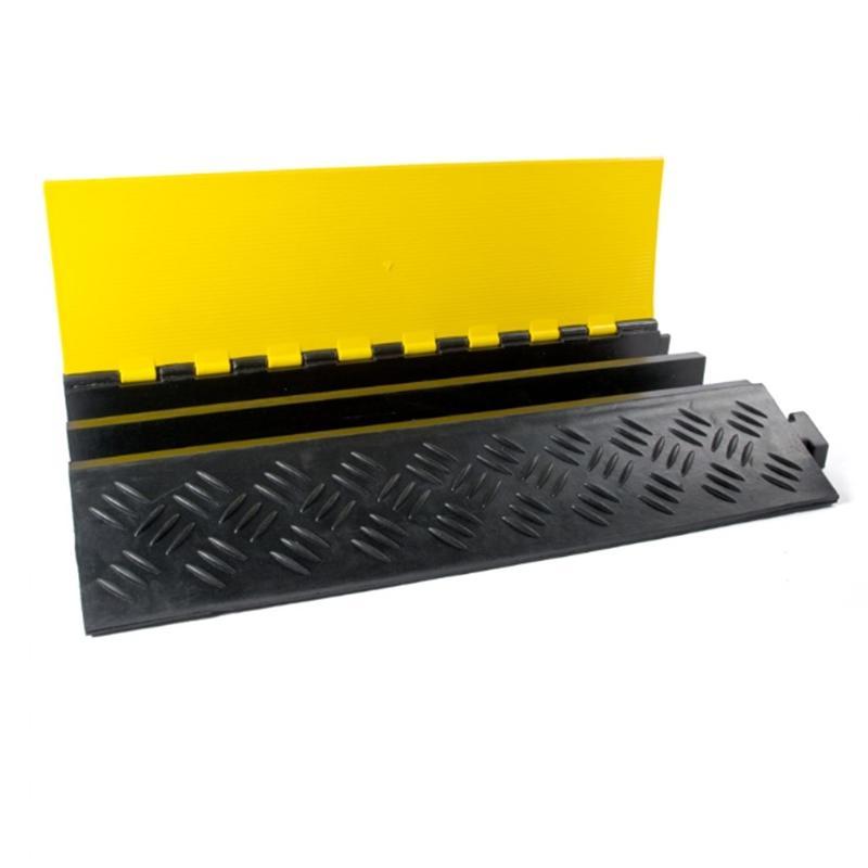 Kabelbrücke 2 Kanäle schwarz/gelb 901x610x102mm - Kabelschutz