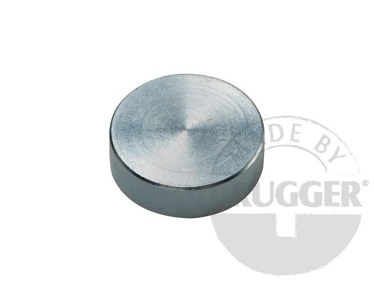 Flat pot magnets NdFeB, galvanized - null