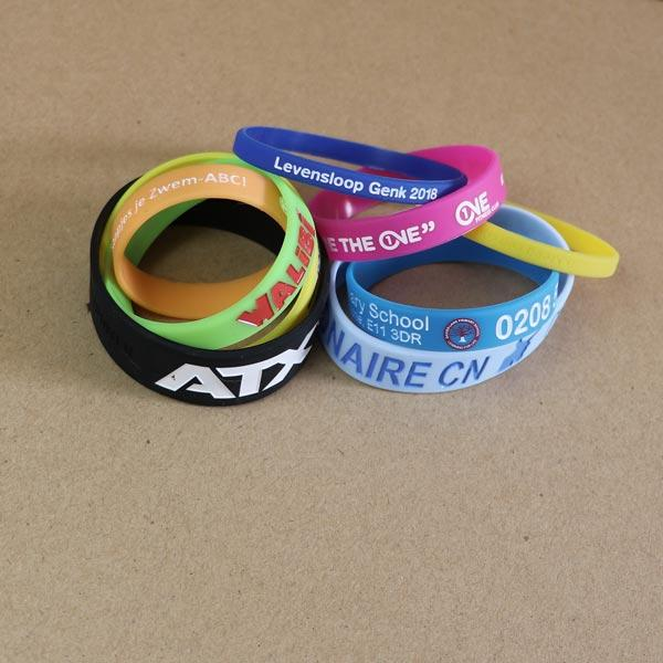 Silicone bracelets - Silicone wristbands with bespoke design