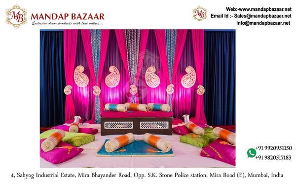 Fantastic Curtains Backdrop - Fancy Wedding Stage Backdrop Lycra Fabric