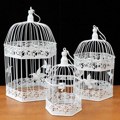 Vintage Bird Cages - Wholesale Vintage Bird Cages - set of 3