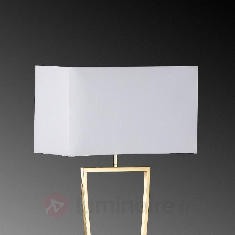 Lampadaire textile Anni laiton poli-blanc - Lampadaires en tissu