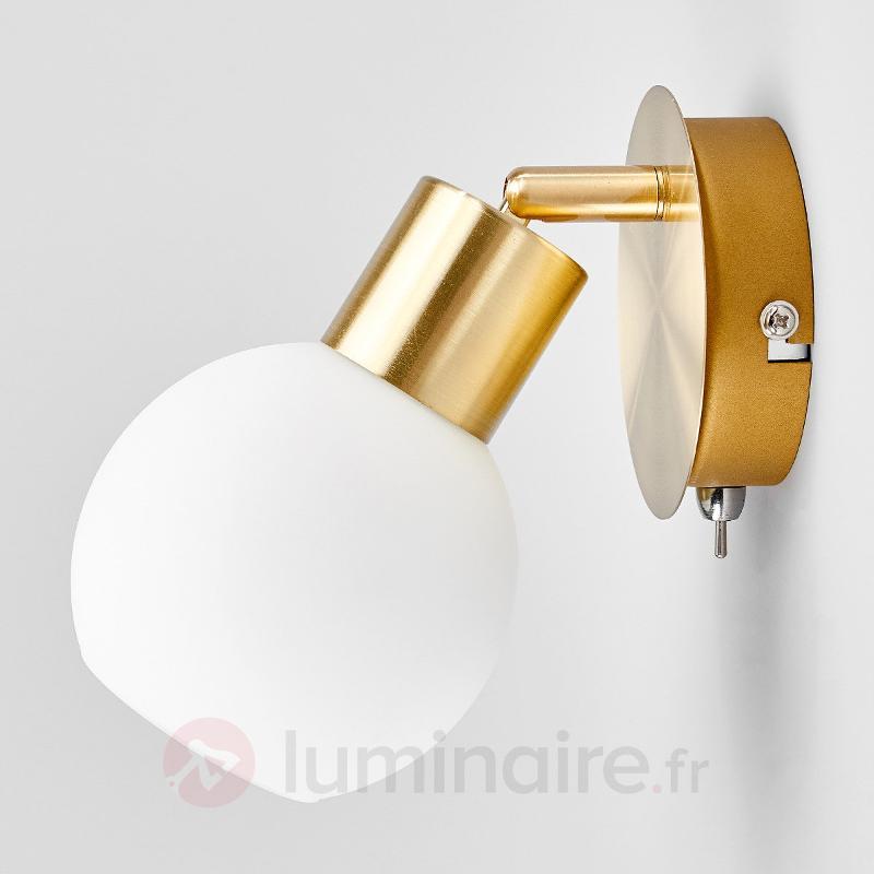 Applique LED à 1 lampe Elaina, laiton - Appliques LED