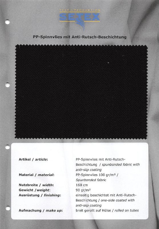 Spunbonded fabric with anti-slip coating - Spunbonded fabric with anti-slip coating