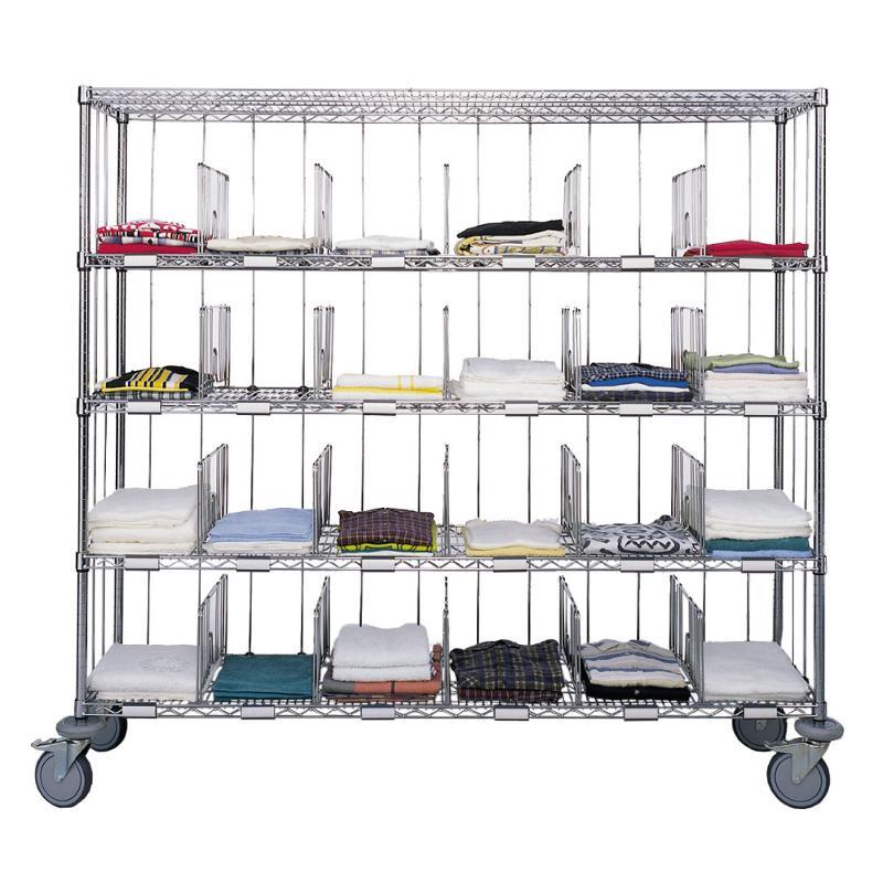 Sortierwagen 10 Fächer, Maße: 610 x 457 x 1765 mm - Sortierwagen