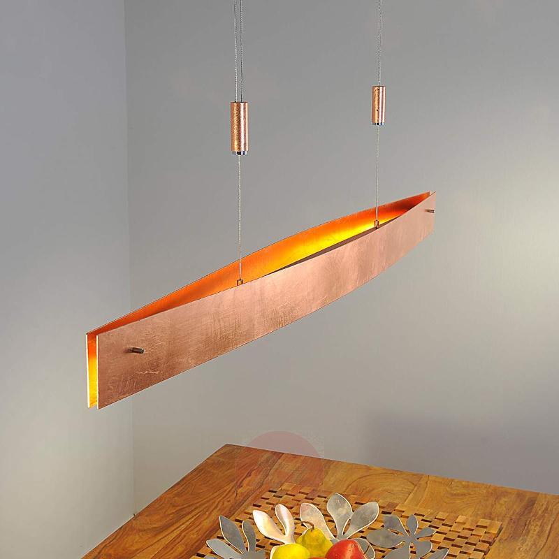 Stylish Malu LED pendant lamp, copper finish - Pendant Lighting