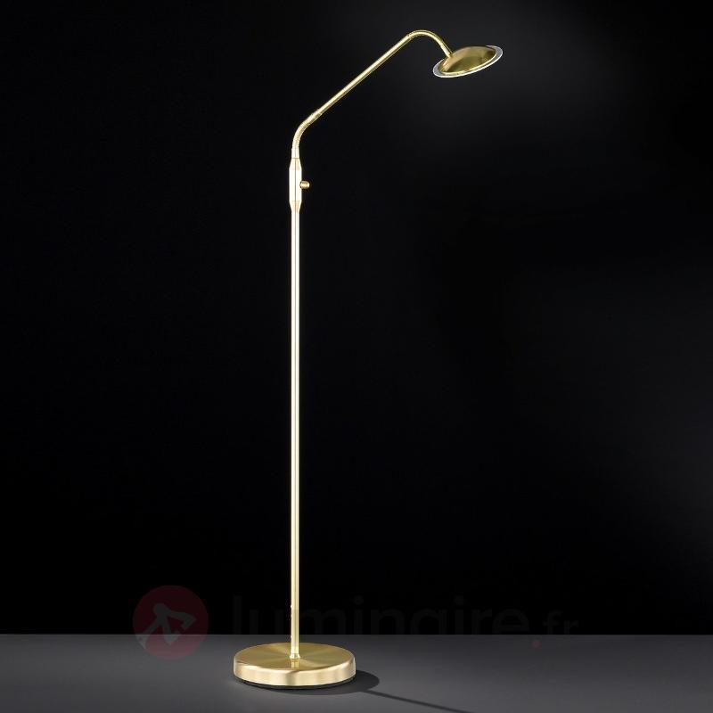 Gracieux lampadaire LED Twin laiton - Lampadaires LED